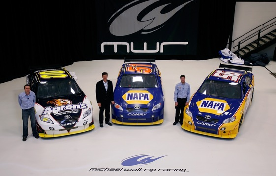 MWR's lineup consists of David Reutimann, Michael Waltrip and Martin Truex Jr. (Photo by Jason Smith/Getty Images)
