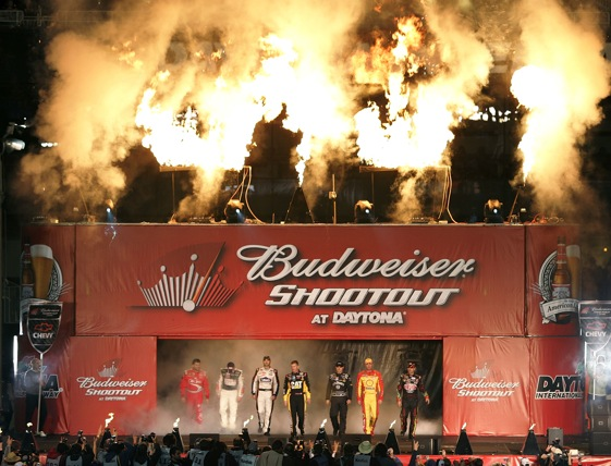 The Budweiser Shootout will kick the season off tonight. (Photo by Jerry Markland/Getty Images for NASCAR)
