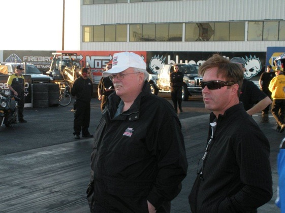 Mike Neff, right, will not be on the track for John Force Racing in 2010. (Photo courtesy of John Force Racing)