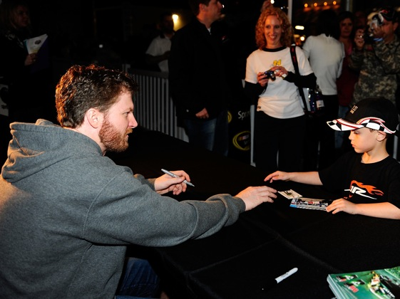 """Junior Nation"" may have a lot to be happy for this year, say Dale Earnhardt Jr.'s peers.  (Photo by Rusty Jarrett/Getty Images)"