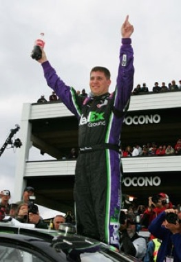 Denny Hamlin says injured led will not keep him out of the 500. (File photo courtesy of NASCAR)