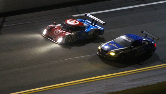The No. 02 Chip Ganassi Racing car looked strong in the Rolex 24, but would not make it through the night. (Photo courtesy of the Grand-Am Series)