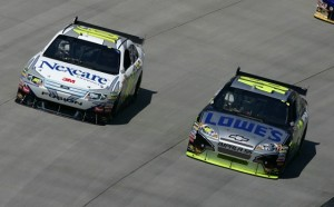 Greg Biffle says that getting past Jimmie Johnson and the others in Rick Hendrick's stable of stars has been, and will continue to be, a major challenge. (Photo by Todd Warshaw/Getty Images)