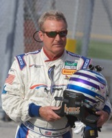 Hurley Haywood out of the car at Daytona  for good. (Photo courtesy of Grand-Am Series)