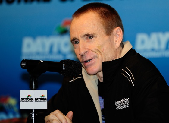 Mark Martin says that he feels confident that he can deprive Jimmie Johnson of a fifth straight Sprint Cup championship this year. (Photo by Rusty Jarrett/Getty Images)