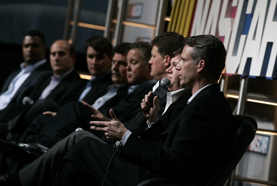 One of the marquee events on the annual NASCAR Media Tour in Charlotte is a Q and A with top NASCAR officials. (Photo by Jason Smith/Getty Images )