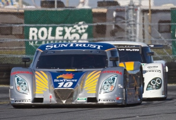 The sun has been out for practice and qualifying for the Rolex 24, but it may not be for the start of the race. (Photo courtesy of the Grand-Am Series.