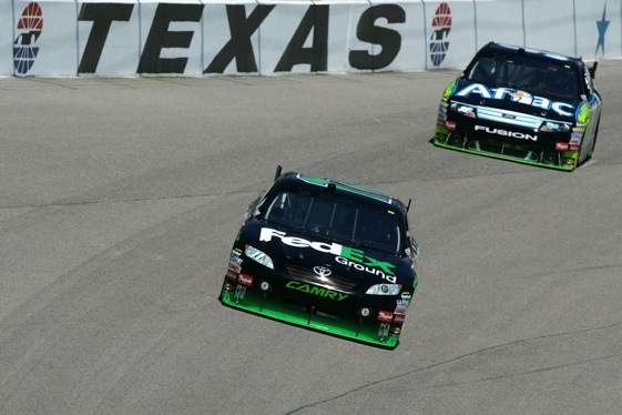 Spoilers will get their first on-track tests on Tuesday at Texas Motor Speedway. (Photo by Todd Warshaw/Getty Images)