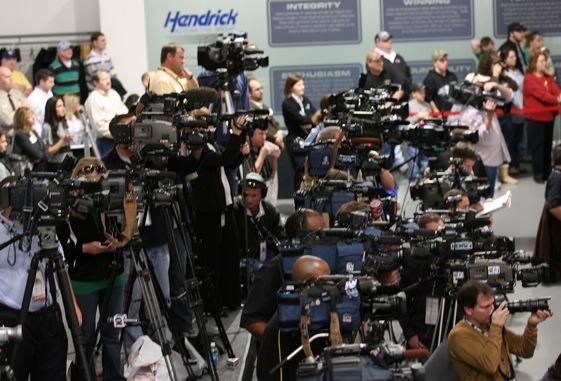 There was plenty for the cameras to capture at last week's annual NASCAR Media Tour. (Photo courtesy of NASCAR)