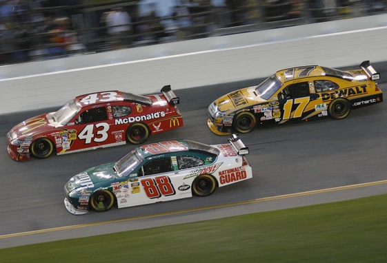 Sprint Cup cars without wings will be tested in March at Charlotte Motor Speedway.  (Photo by Geoff Burke/Getty Images for NASCAR)
