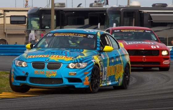 Matt Plumb heads for victory in the Fresh from Florida 200 on Friday. (Photo courtesy of the Grand-Am Series)