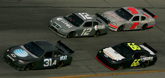 January testing at Daytona always had a little bit different look to it. There were lots of gray days. (Photo by Sam Greenwood/Getty Images for NASCAR)