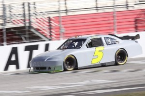Mark Martin takes test laps at Atlanta Motor Speedway on Wednesday. (Photo courtesy of Atlanta Motor Speedway)