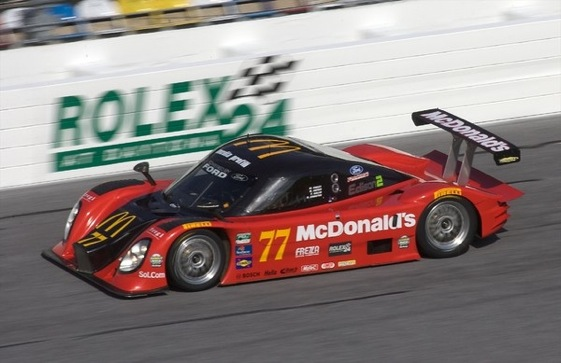Memo Gidley took the lead early in the rain at the Rolex 24 in Daytona. (Photo courtesy of the Grand-Am Series)