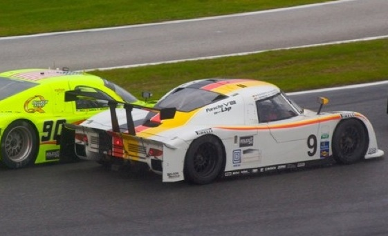 The No. 9 Porsche Riley has spent much of the morning in the lead at Daytona. (Photo courtesy of the Grand-Am Series)