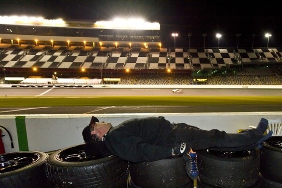 Fatigue becomes a player as the Rolex 24 drags on. (Photo courtesy of the Grand-Am Series)