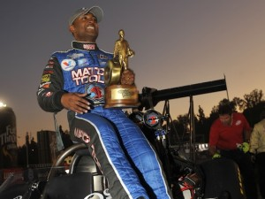 Antron Brown has a new home and is getting comfortable there. (File photo courtesy of the NHRA Full Throttle Drag Racing Series))