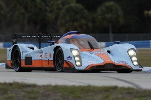 The Aston Martin prototype showed speed at the ALMS Sebring test. (Photo courtesy of the American Le Mans Series)