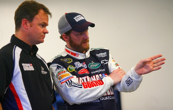 Dale Earnhardt Jr. is not being treated kindly by the pollsters these days. (Photo by Jason Smith/Getty Images for NASCAR)