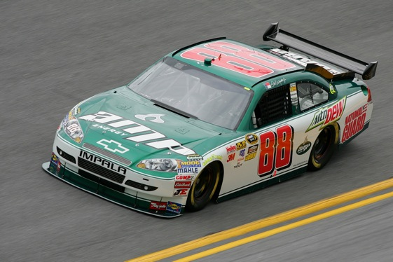 Dale Earnhardt Jr. is already a winner. His car has a winning paint job. (Photo by Todd Warshaw/Getty Images)