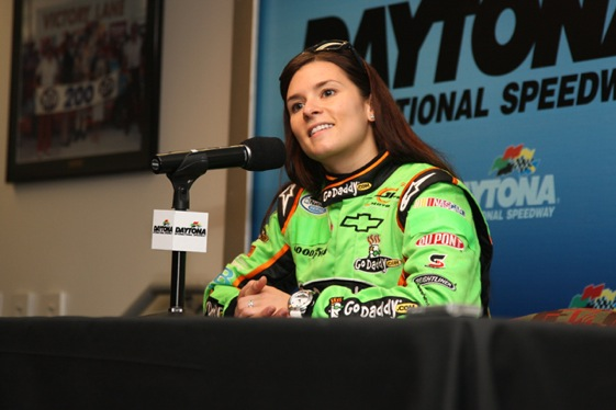 Danica Patrick is having a good time down in Daytona. (Photo courtesy of NASCAR)