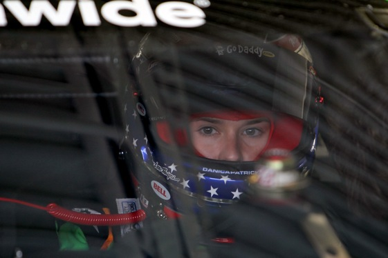 Danica Patrick will be heading back to her day job after this weekend's events at Las Vegas Motor Speedway. (Photo by Stephen Dunn/Getty Images for NASCAR)