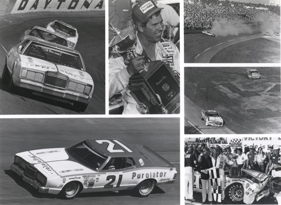 A collage of photos from what some consider the best Daytona 500 ever. (Photos courtesy of The Wood Brothers Racing Team)