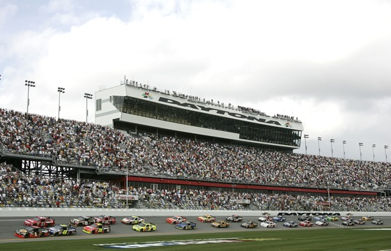 Daytona International Speedway, site of stock car racing's big event. (Photo by Jerry Markland/Getty Images for NASCAR)