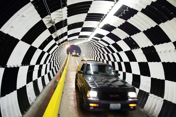 The wonderful old Turn 4 tunnel at Daytona. (File photo by Jamie Squire/Getty Images)
