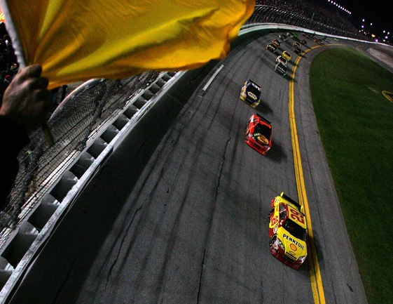 Kevin Harvick led the 2010 Daytona 500 after the first green-white-checkered restart and would have won the race without the new rule.(Photo by Todd Warshaw/Getty Images for NASCAR)