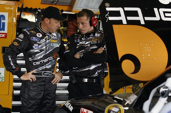Matt Kenseth and Drew Blickensderfer have separated one year after their last victory together.  (File photo by Jason Smith/Getty Images)