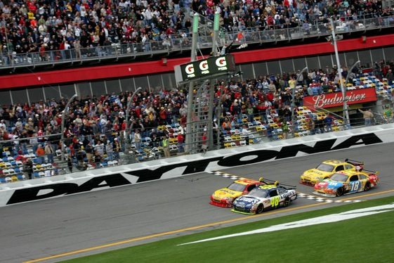 Because of new rules, the racing has been wilder, but also better, during Speedweeks 2010. (Photo by Jerry Markland/Getty Images for NASCAR)