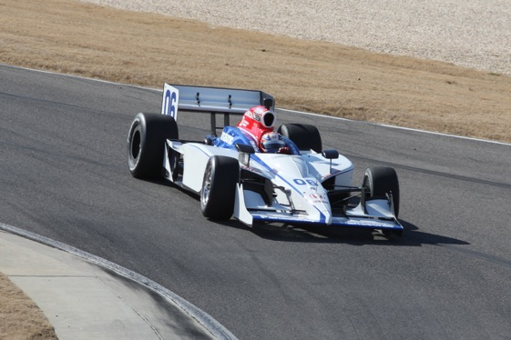 Hideki Mutoh took test laps this week in the Newman/Haas/Lanigan car. (Photo courtesy of the IndyCar Series)