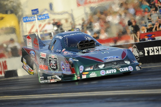 The new John Force is looking like the old John Force. (Photo courtesy of the NHRA)