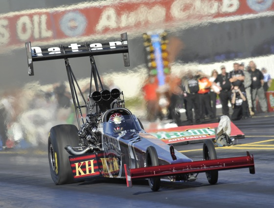 This season, Larry Dixon is off to a fast start in Top Fuel. (Photo courtesy of the NHRA)