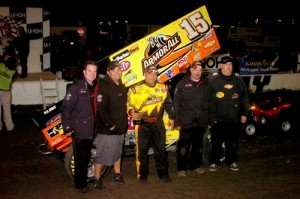 Donny Schatz started off 2010 with a win. (World of Outlaws Photo by Hein Brothers Photo)