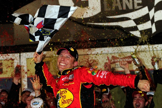 Jamie McMurray celebrates Daytona 500 style in Victory Lane after the race.  (Photo by Rusty Jarrett/Getty Images for NASCAR)