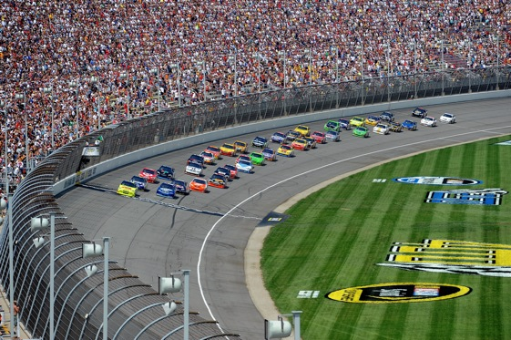 Green-white-checkered restarts may be adjusted by NASCAR this week. (Photo courtesy of NASCAR)