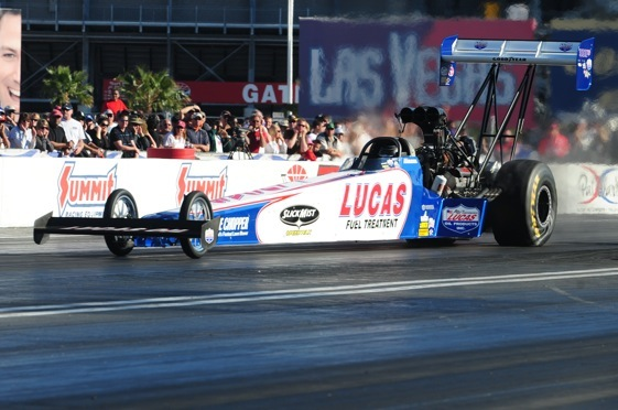The Winternationals are a home game for Top Fuel driver Shawn Langdon. (File photo courtesy of the NHRA)