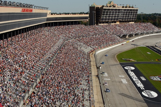 Atlanta Motor Speedway this weekend could be a big test for the 'new NASCAR'.  (Photo by Chris Graythen/Getty Images)