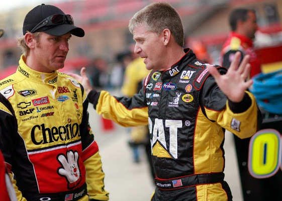 Richard Childress Racing drivers Clint Bowyer and Jeff Burton are early season contenders to challenge Jimmie Johnson. (Photo by Tom Pennington/Getty Images for NASCAR)