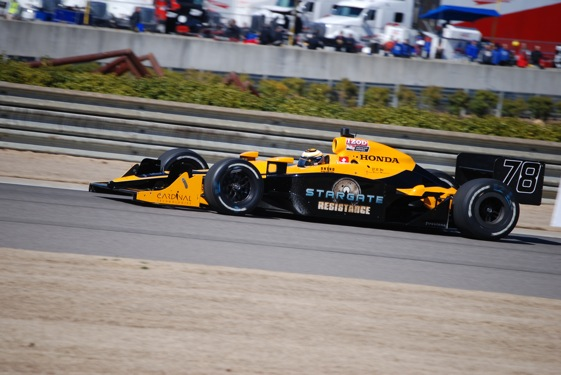 Simona De Silvestro moves up to IndyCar Series this year. (Photo courtesy of Stargate/HVM Racing)