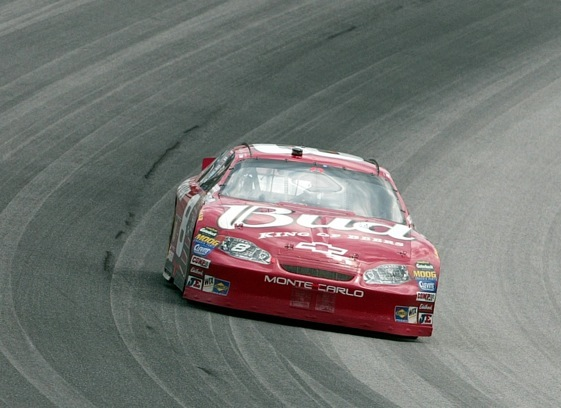 Dale Earnhardt was driving the No. 8 Budweiser car in 2004. It appeared headed to a Sprint Cup championship. (File photo courtesy of NASCAR)