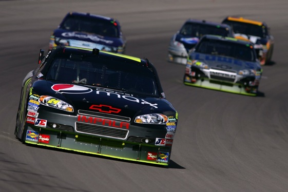 Jeff Gordon returned to the front at Las Vegas last Sunday. Can he stay there?  (Photo by Todd Warshaw/Getty Images)