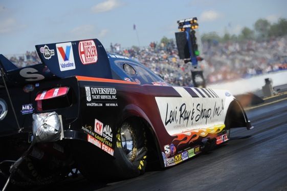 Tim Wilkerson won Funny Car title Sunday in Gainesville. (NHRA photo)