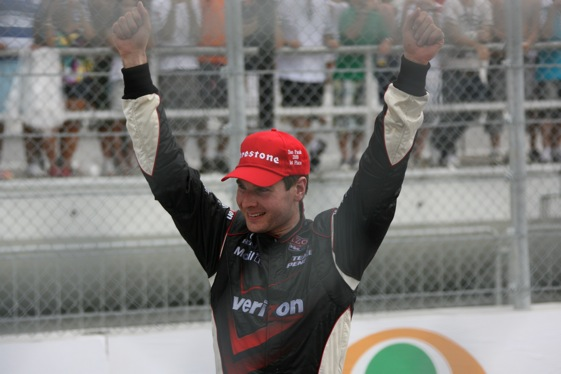 Will Power is back from a broken back. (Photo courtesy of the Indy Racing League)