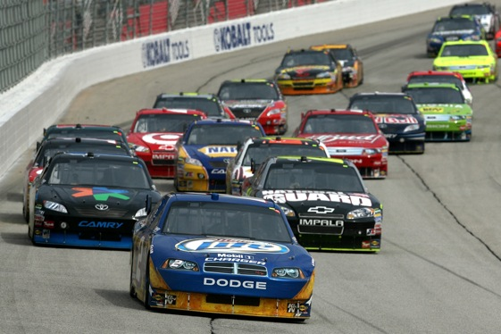 "Should NASCAR be rethinking its policy of ""Have at it"" in wake of Atlanta crashes? (Photo by Chris Trotman/Getty Images)"