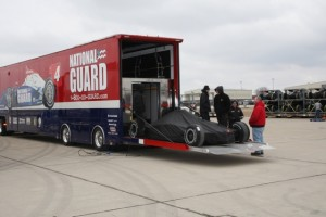 Panther Racing packaged it cars and sent them to Brazil this week for the season-opening race in Sao Paolo. (Photo courtesy of the Indy Racing League)