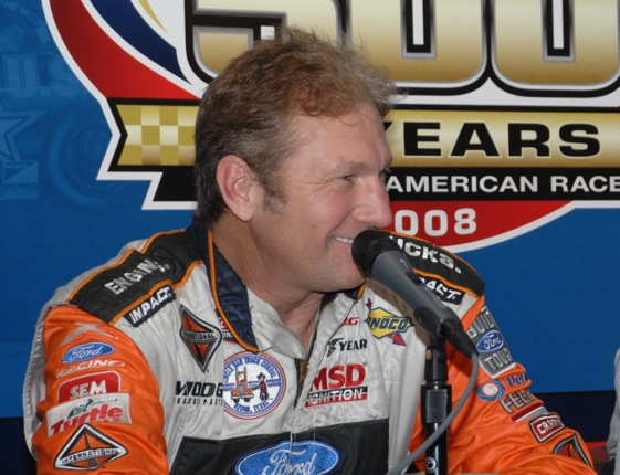 Rick Crawford was back in truck – and media room – on Saturday. (File photo courtesy of NASCAR)