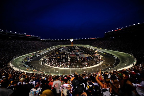 Bristol Motor Speedway at night is still pretty special. (File photo by Rusty Jarrett/Getty Images for NASCAR)